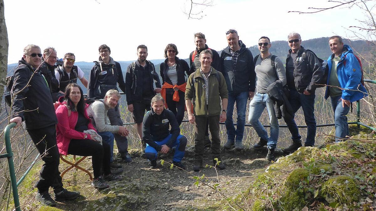 Outdoor Team Training in der Fränkischen Schweiz