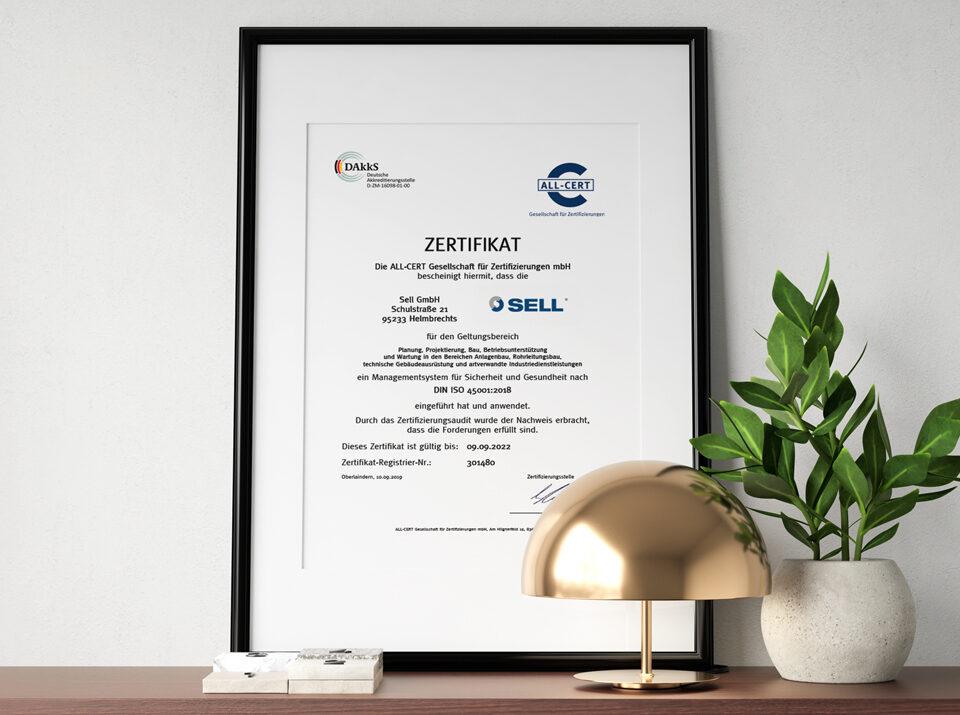 Sell erhält international anerkanntes Zertifikat für Arbeits- und Gesundheitsmanagement