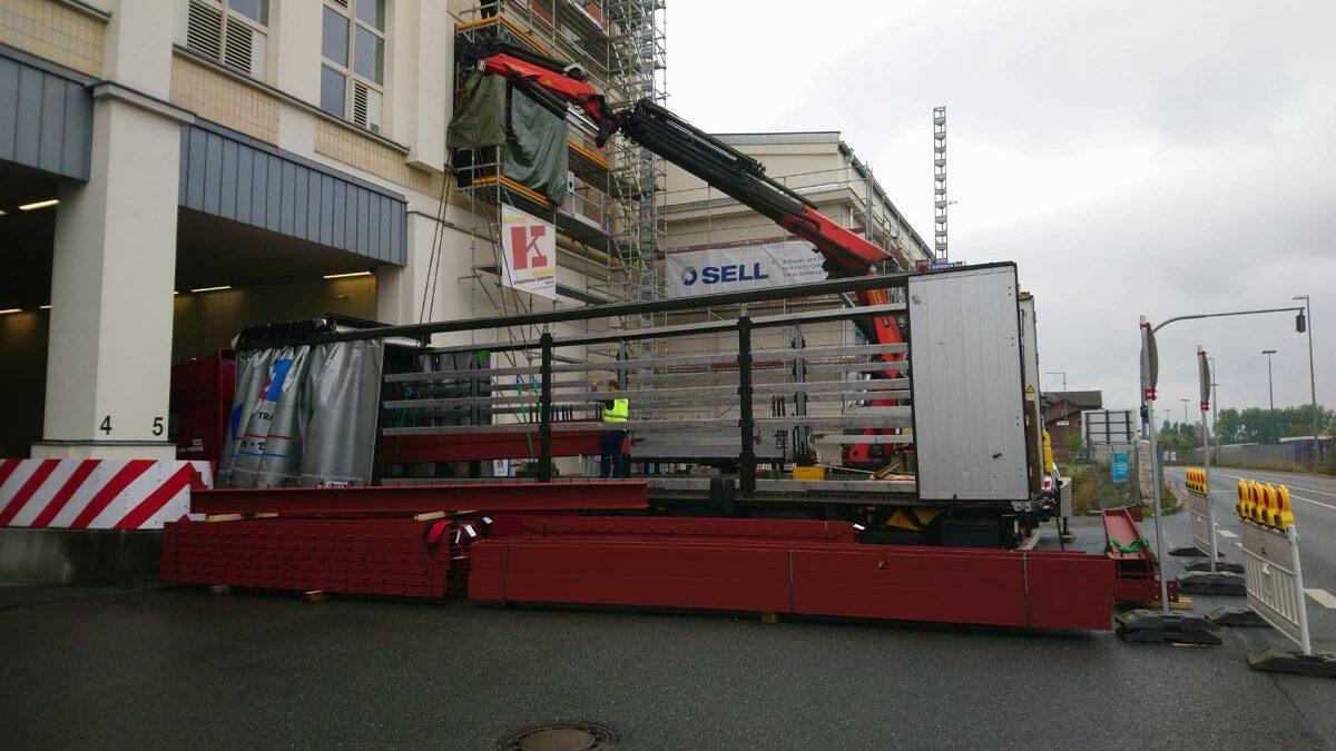 Montagestart Spinnerei Kulmbach – Sell führt die kompletten Stahlbauarbeiten aus