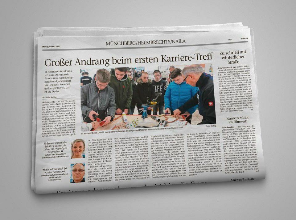 """Sell informiert beim ersten """"Karriere-Treff"""" in Helmbrechts"""