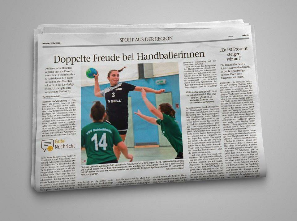 SG Helmbrechts/Münchberg vom BHV bestätigt - Sell GmbH bleibt als Sponsor natürlich an Bord!