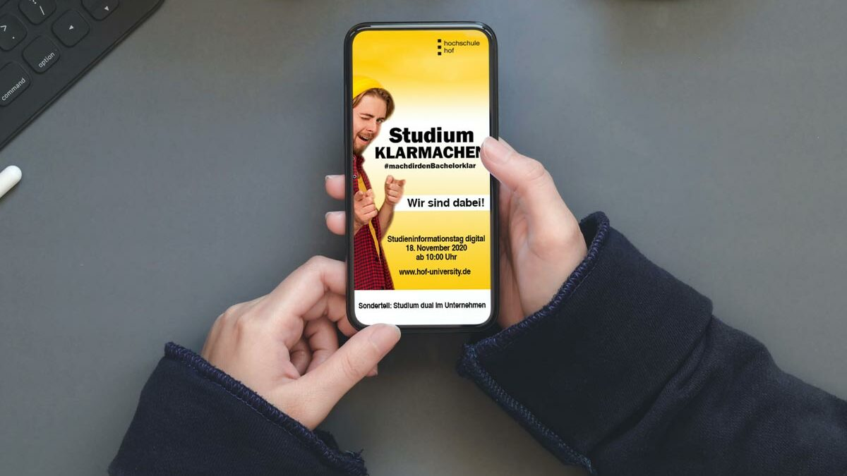 Virtueller Studieninformationstag Duales Studium an der Hochschule Hof